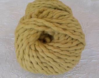 big xxl mustard yellow merino wool yarn. 100 g.