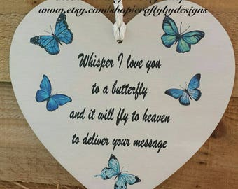 Whisper I love you to a butterfly Vinyl Decal Sticker | Memorial Vinyl Decal Sticker | I Love You Vinyl Decal Sticker