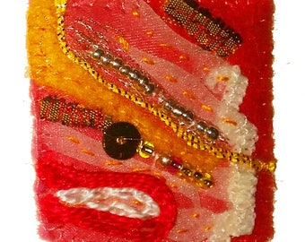 """Brooch """"Gold and light"""""""