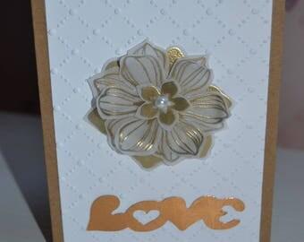 Mother's day original Golden Flower card