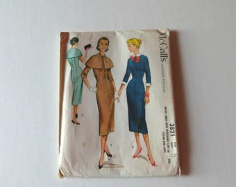 1956 Vintage McCall's Dress Pattern 3821