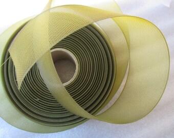 tulle in 4.5 cm khaki green for wedding or baptism