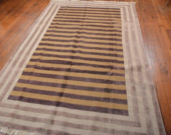 Chinese Contemporary Rug, 6'x9', Gold/Beige, All wool pile