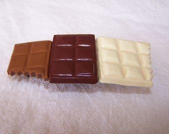 Chocolate, gourmet fimo jewelry fimo hair clip