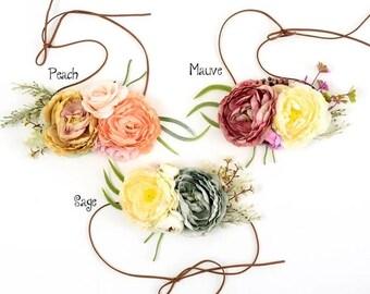Flower Crown Headband Hair Band Baby Keepsake Photo  Gift