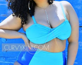Chloe Color Blocked Plus Size Bikini Set