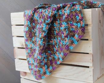 Crochet Baby Blanket - Travel / Car Seat / Stroller