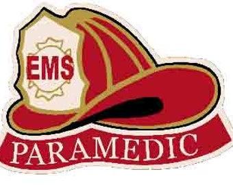 Vintage Style  EMT EMS Fireman Firefighter Paramedic first responder emergency     Travel Decal sticker