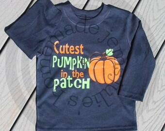 Cutest pumpkin in the Patch SVG - Pumkin svg - Kids pumpkin shirt - Pumpkin trick or treat bag - kids Halloween svg - Fall svg, bodysuit svg