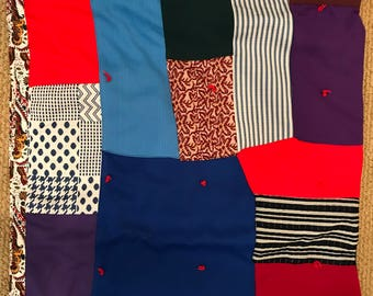 "Vintage 'Grandma made"" patchwork quilt"