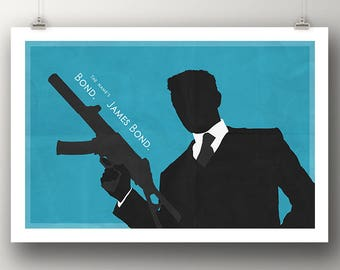 CASINO ROYALE Poster Name's James Bond Quote Minimalist Movie Posters Minimal Large Wall Art Print Movie Lover Birthday Gift College Dorm