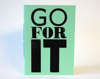 A5 Stab Bound Notebook - Go For It