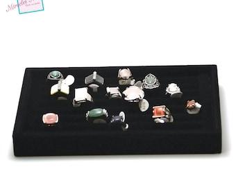 Display trays for ring 23 x 14, 5 x 3 cm, black velvet