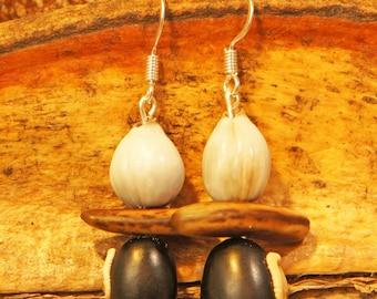 Guyana seed earrings