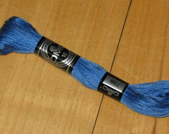 cotton embroidery 23 m blue