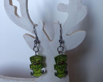 Fancy Frank Einstein Halloween earring
