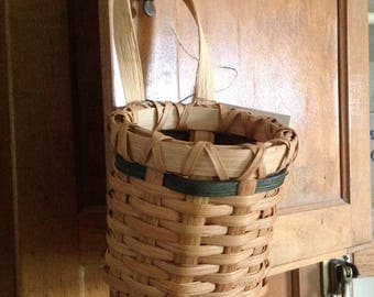 Primitive Candle Basket/Doorknob Basket/Shaker/Primitive/Rustic/Country Decor/Colonial/Americana