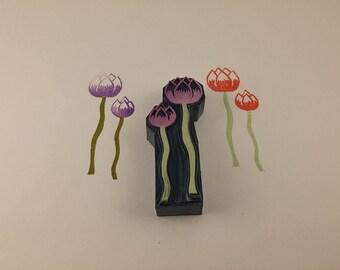 handmade stamp double flowers