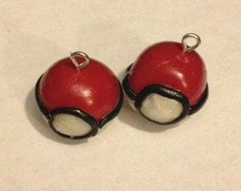 Wearable jewelry with polymer clay ball