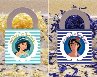 Aladdin Treat Boxes, Aladdin Popcorn Boxes, Jasmine Candy Boxes, Jasmine Party Boxes