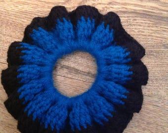 Black & Blue flower hair band