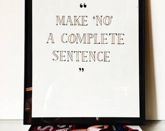 Amy Poehler Quote | Inspirational Women | Handwritten Print | Original Print | Home Decor | Wall Art | Inspirational Quote | Badass Women