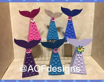 Mermaid Tail Favors Boxes
