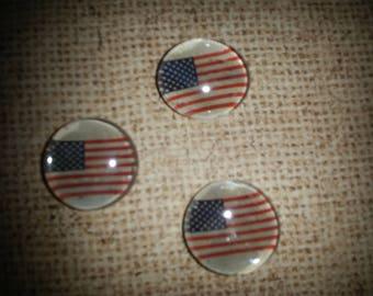 Magnets-American Flag Glass Gem Magnets