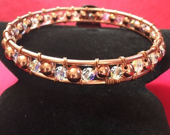 Rose gold plated Copper Bangle