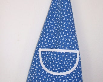Kids apron blue and white