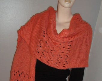 Stole or maxi scarf - Shawl gold maxi gashes.
