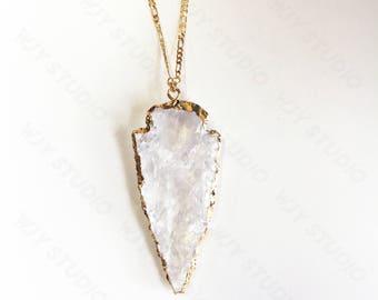 14k-karat gold crystal heart necklace (medium)