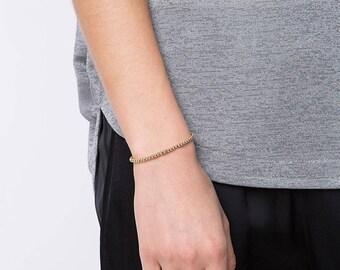 Beaded Bracelet • Silver, 14K Gold-Filled or 14K Rose Gold-Filled Beaded Bracelet • Women Beaded Bracelet • BOHO Bracelet