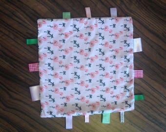 Handmade ribbon tag blanket