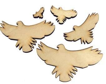 Blank Wooden Bird Plywood Scrapbooking Embellishment Wedding Decor Christmas