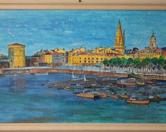 Port of Rochelle: Acrylic paint on wood