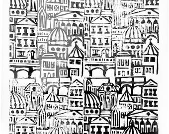 Architecture Lino Print