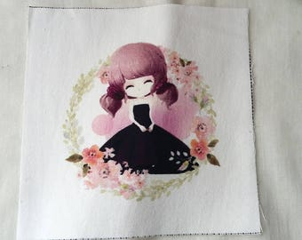 Coupon for patchwork 15 x 15 girl