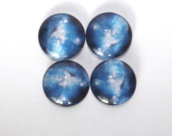 Set of 4 cabochon 18 mm space
