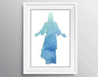 His arms are outstretched still, Jesus art, Jesus instant download, Jesus digital download, Jesus watercolor, LDS Jesus, Jesus Christ