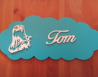 blue door with customizable Eagle