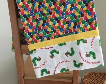 Early Bird Gets the Worm (Very Hungry Caterpillar pillowcase)