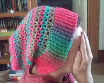 V-Stitch Slouchy Hat
