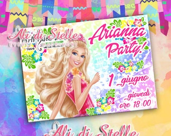 Custom party invitations! Barbie Birthday Party Invitation 100% customizable