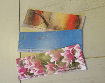 The 3 bookmark 15 cm - blank back-(5 designs available and other options)
