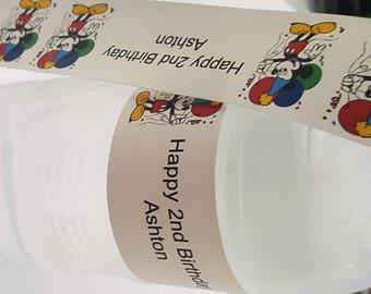 Mickey Water Bottle Label