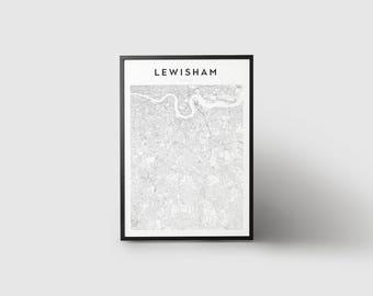 Lewisham Map Print