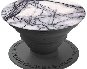 PopSockets For Phone Pop Socket Phone Grip Phone Stand Holder White Marble