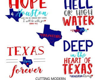 Pray for Texas - Cuttable Design Files(Svg, Png) For Silhouette Studio, Cricut Design Space, Cutting Machines,Instant Download
