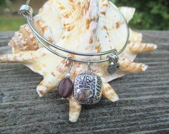 Coffee Bangle Bracelet